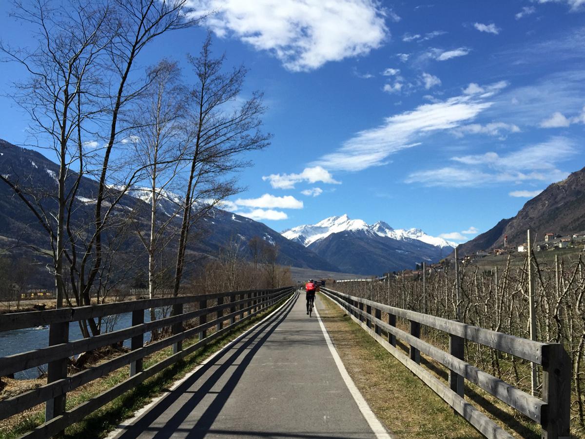 Radweg im Etschtal, Südtirol