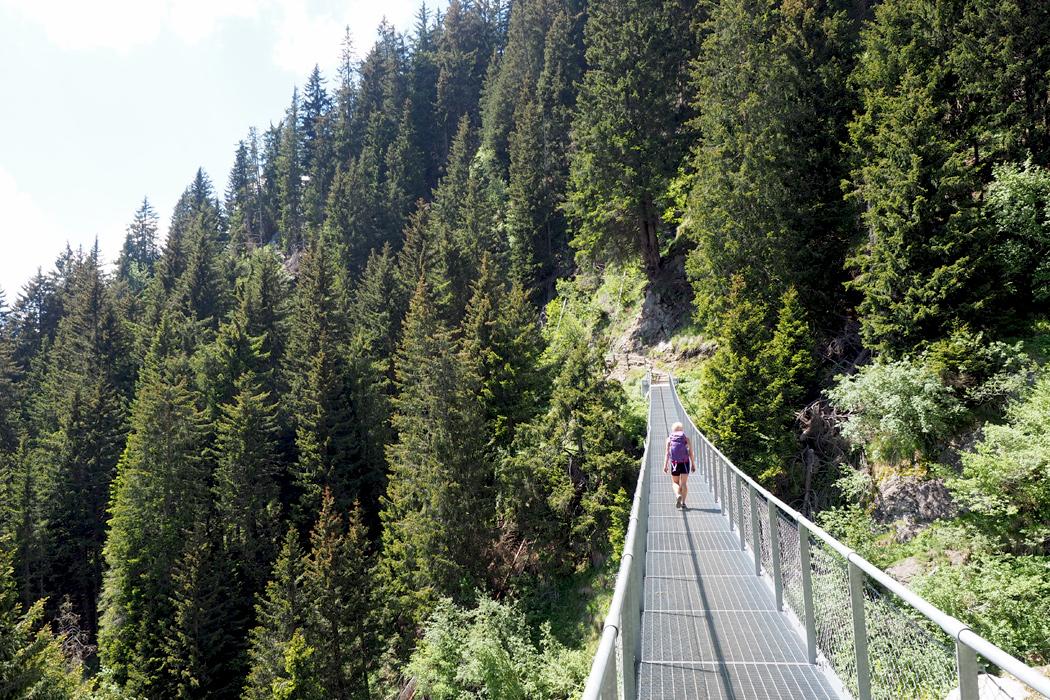 Meraner Höhenweg - Hängebrücke
