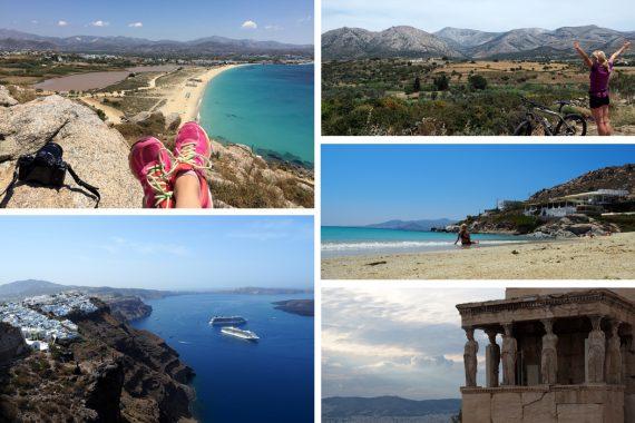 Alleinreisende Frau Griechenland - Inselhopping Naxos, Santorini, Athen