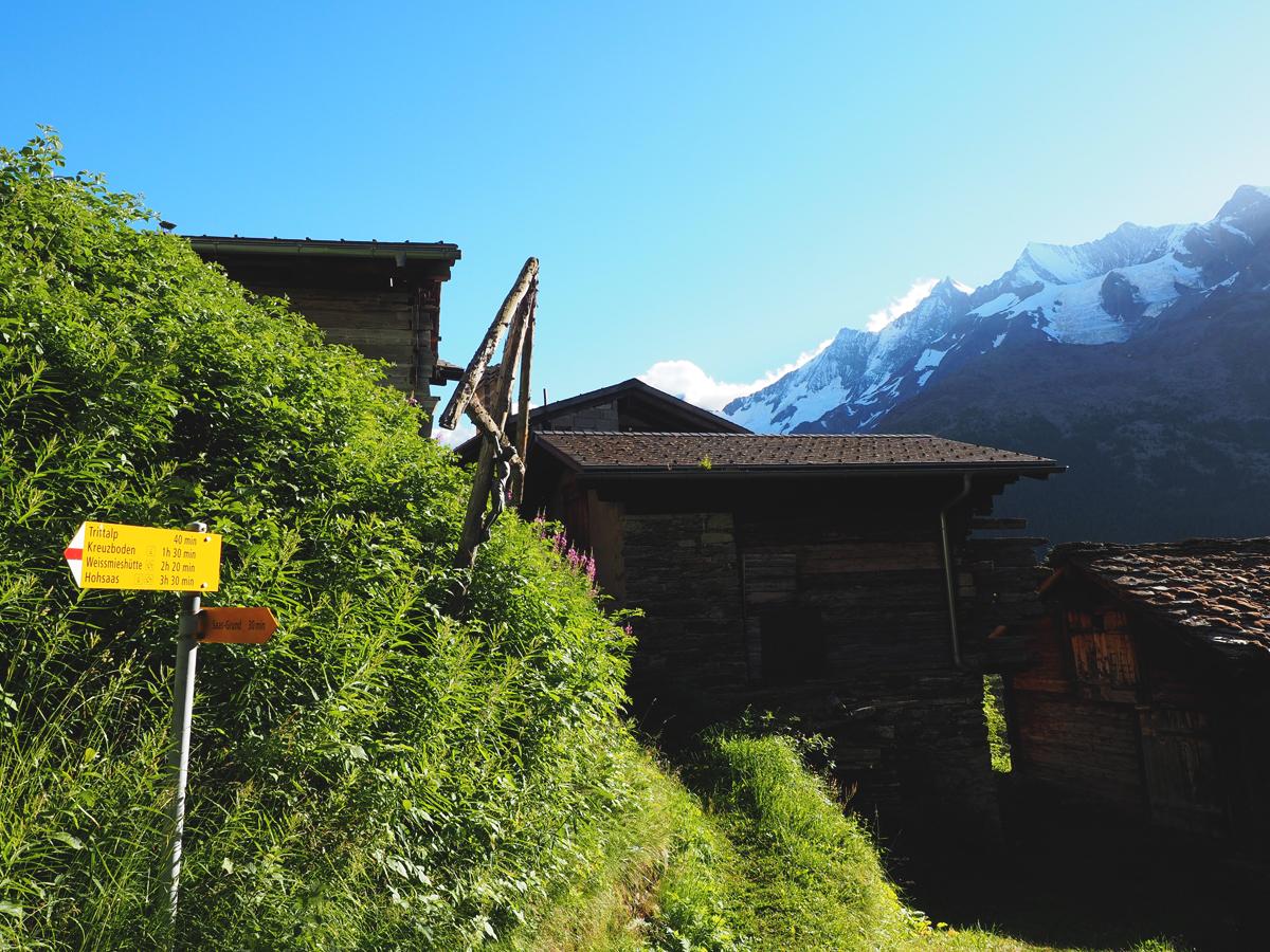 Bergtour Saas Grund - Weissmieshütte