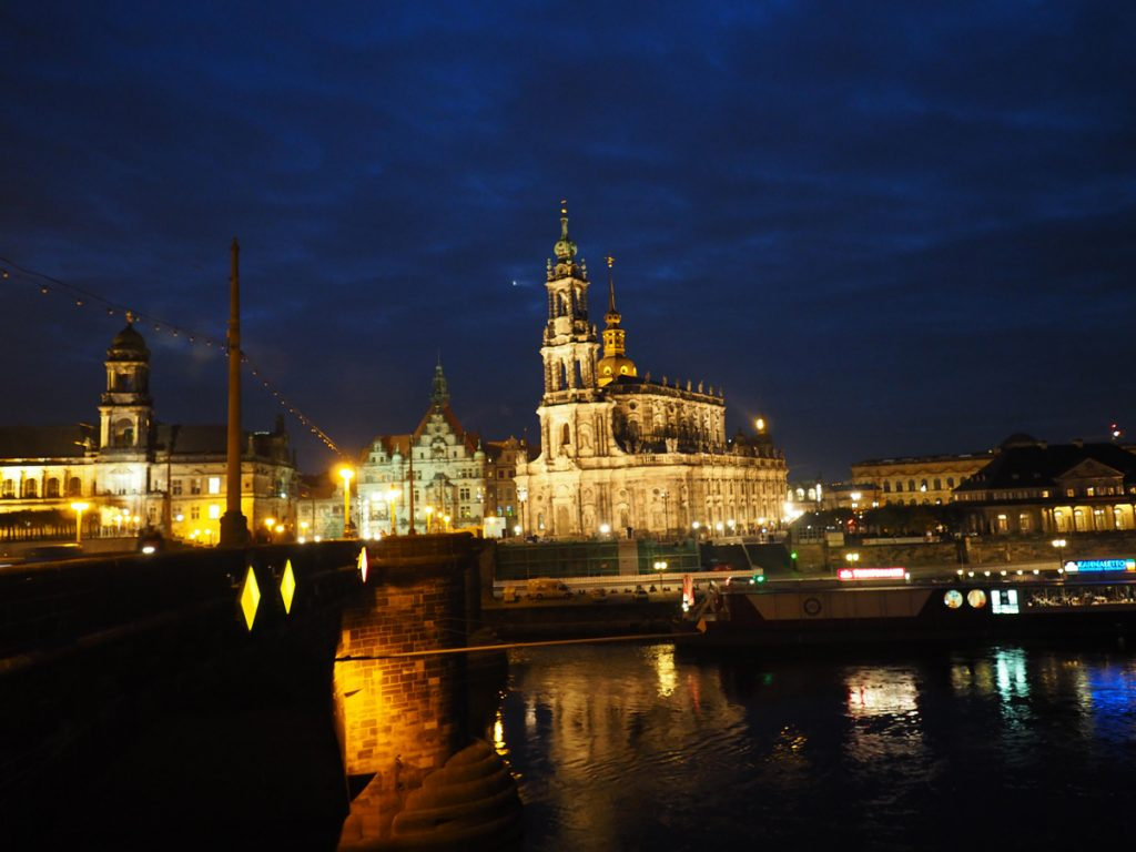 Dresden Altstadt in der Nacht