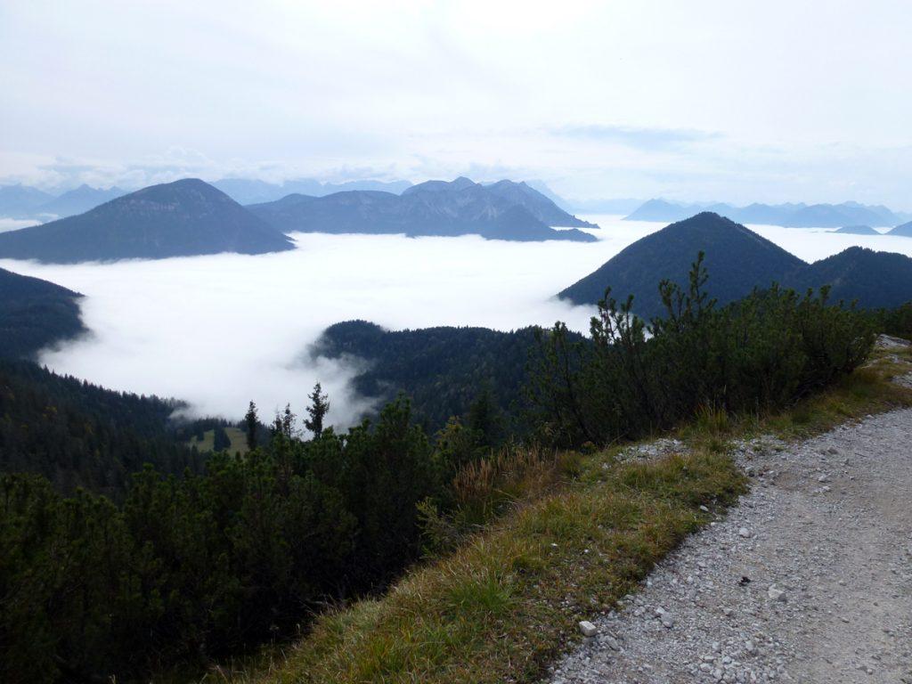 Heimgarten - Wolkenmeer in den Bergen