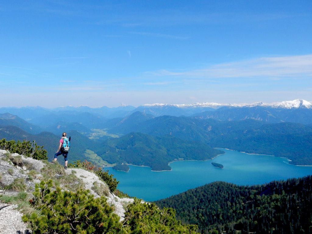 Herzogstand - Blick über den Walchensee