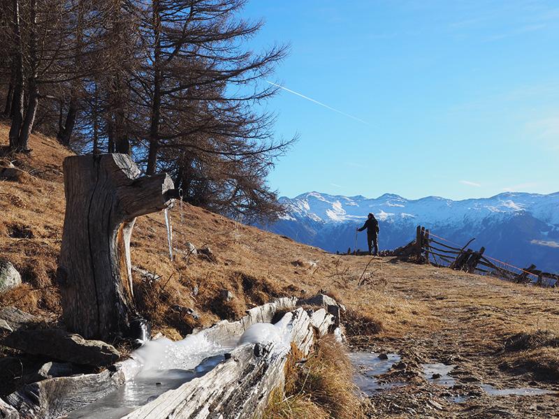Wandern St. Martin im Kofel - Dolomitenblick