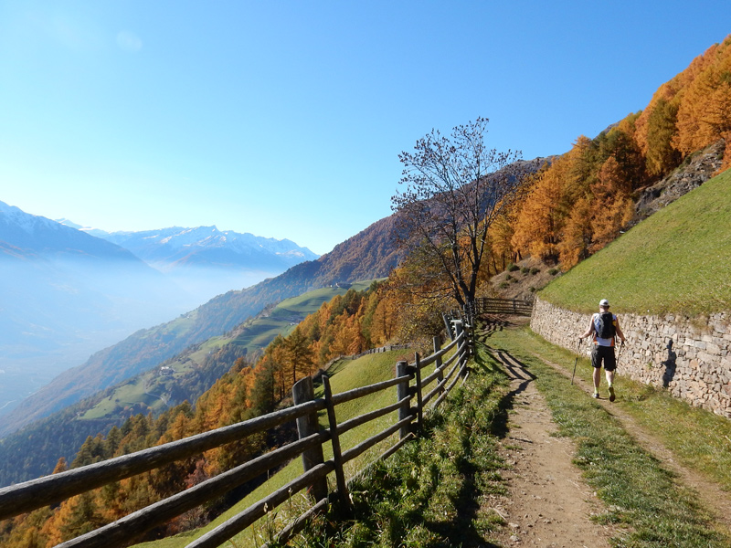 Meraner Höhenweg - Wandern im Herbst