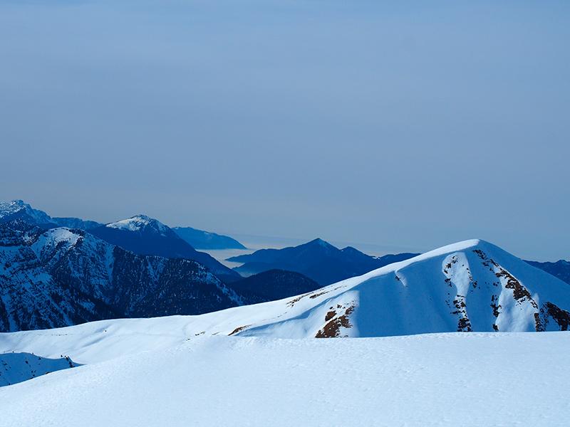 Schneeschuhwandern Hinterriss Fleischbank