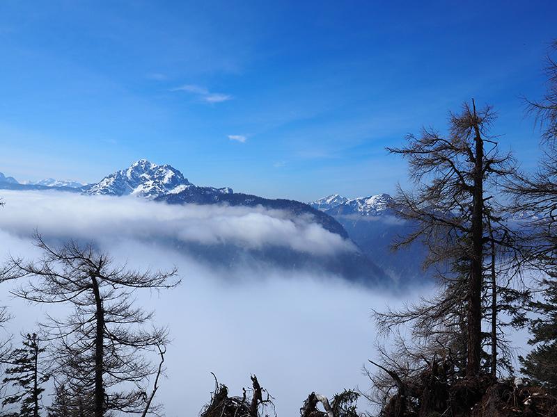 Winterwandern Obertraun - Hoher Sarstein, Wolkenmeer
