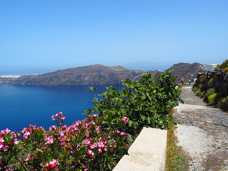 Wandern auf Santorin zwischen Fira und Oia