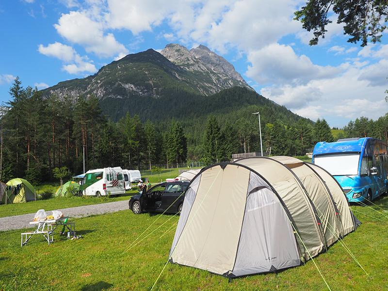 Campingplatz Vorderhornbach im Lechtal