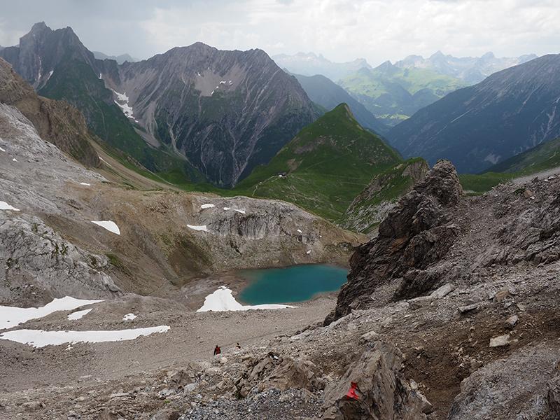 Wandern Memminger Hütte - Seescharte