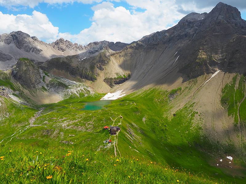 Wandern Memminger Hütte - Seekogel
