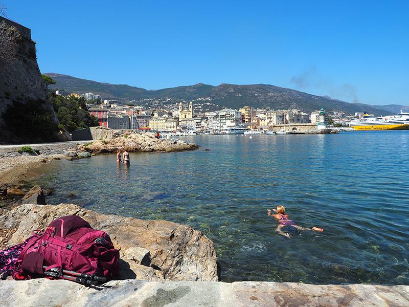 Wandern auf korsika auf dem GR20 - in Bastia