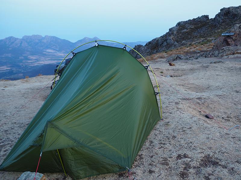 Wandern auf dem GR20 auf Korsika - von Calanzana zum Refuge d'Ortu di u Piobbu, Zelten