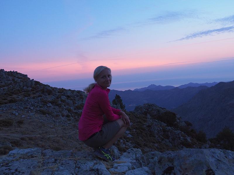 Wandern auf dem GR20 auf Korsika - von Calanzana zum Refuge d'Ortu di u Piobbu, Sonnenaufgang