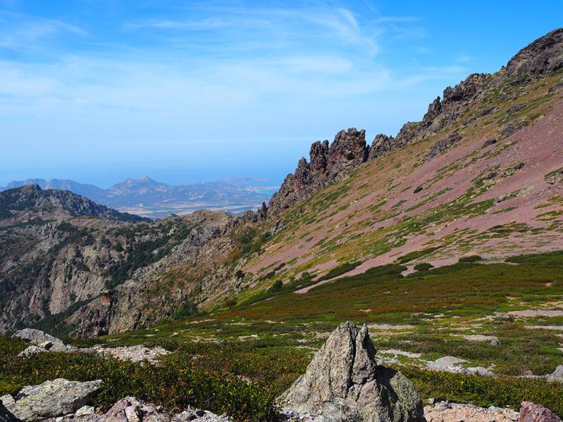 Wandern auf dem GR20 auf Korsika - von Refuge d'Ortu di u Piobbu auf den Monte Corona