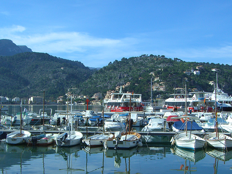 Mallorca - Hafen in Port de Soller