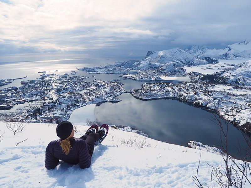 Lofoten - Wandern Floya - Svolvær, Aussichtspunkt