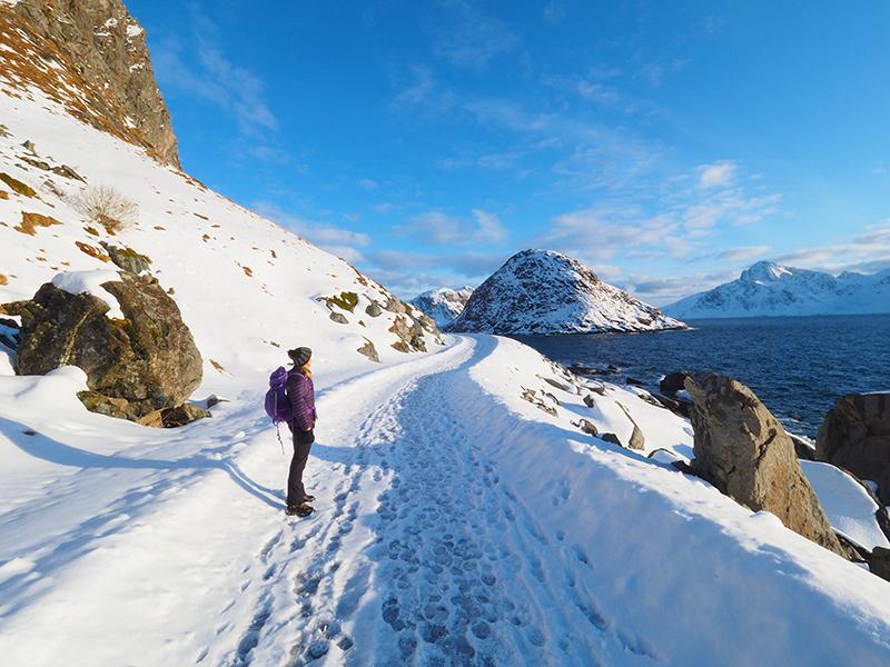 Lofoten - Haukland Beach, Wandern