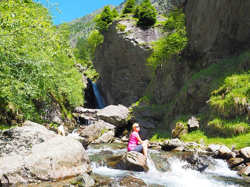 Spronser Seen Wandern - Wasserfall