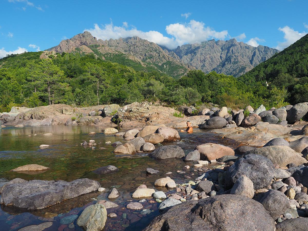 Gumpe im Fangotal - Korsika