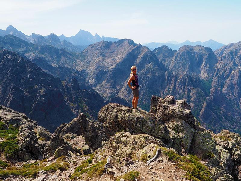 Wandern auf dem GR20 auf Korsika -Wandern