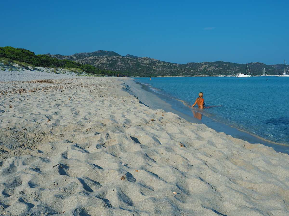 Plage de Saleccia am Morgen - Korsika