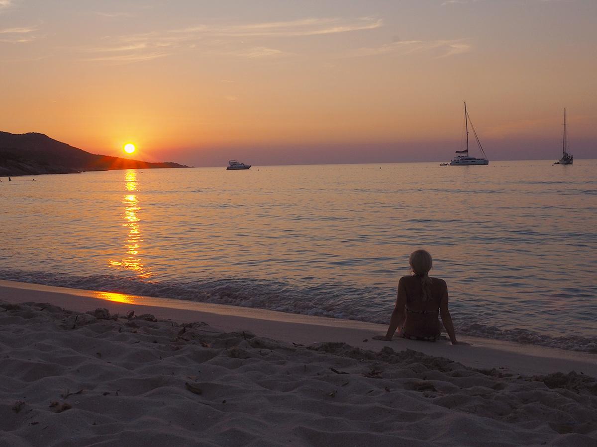Plage de Saleccia - Sonnenuntergang