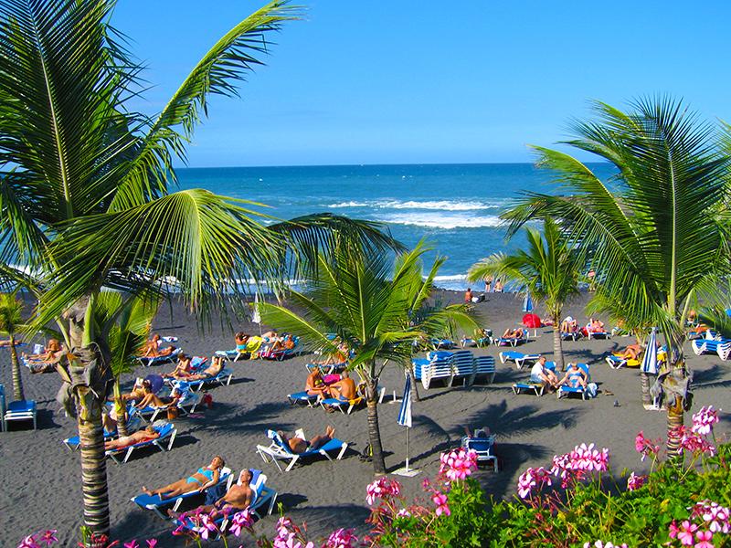 Teneriffa - Puerto de la Cruz, Playa Jardin