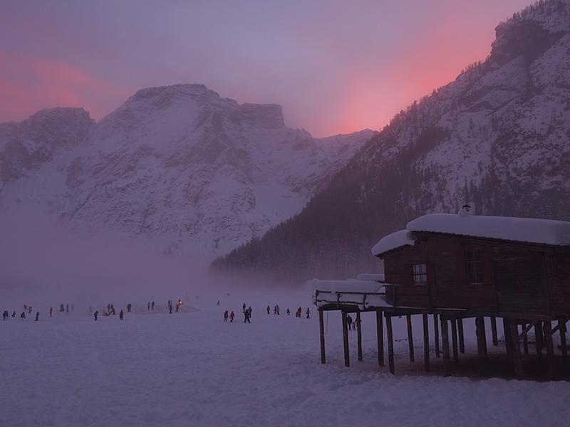 Pragser Wildsee im Winter - Sonnenuntergang