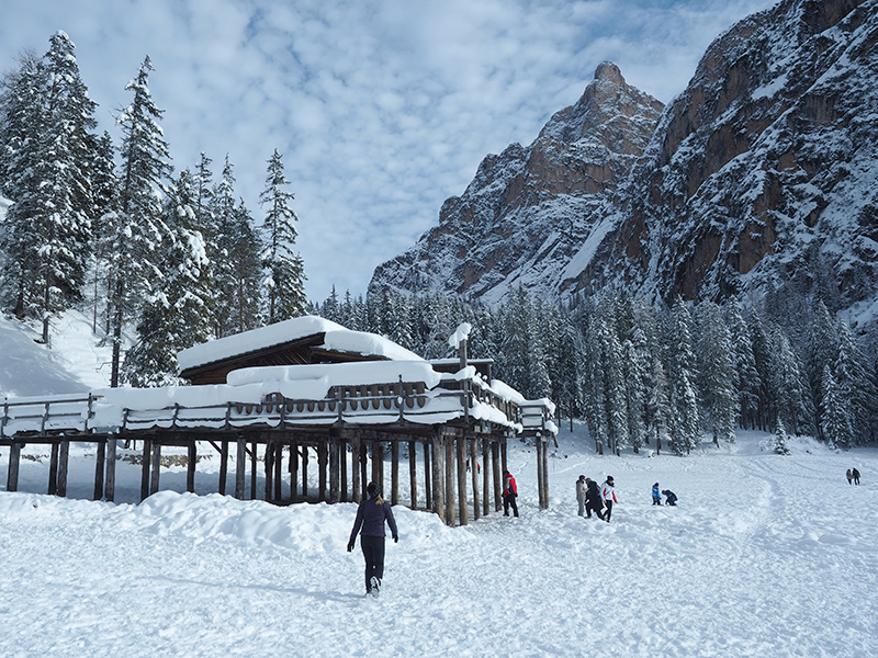 Pragser Wildsee im Winter