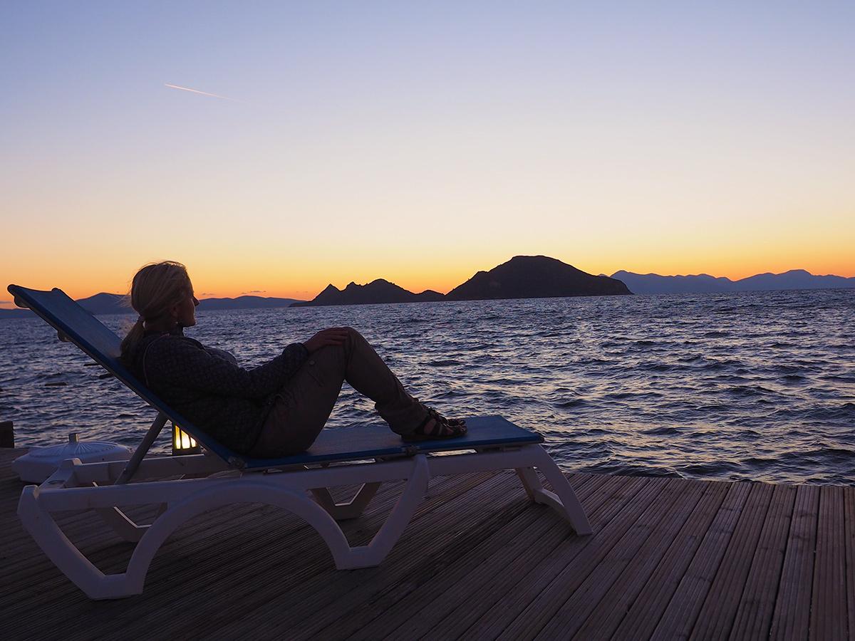 Turgutreis - Steg, Sonnenuntergang