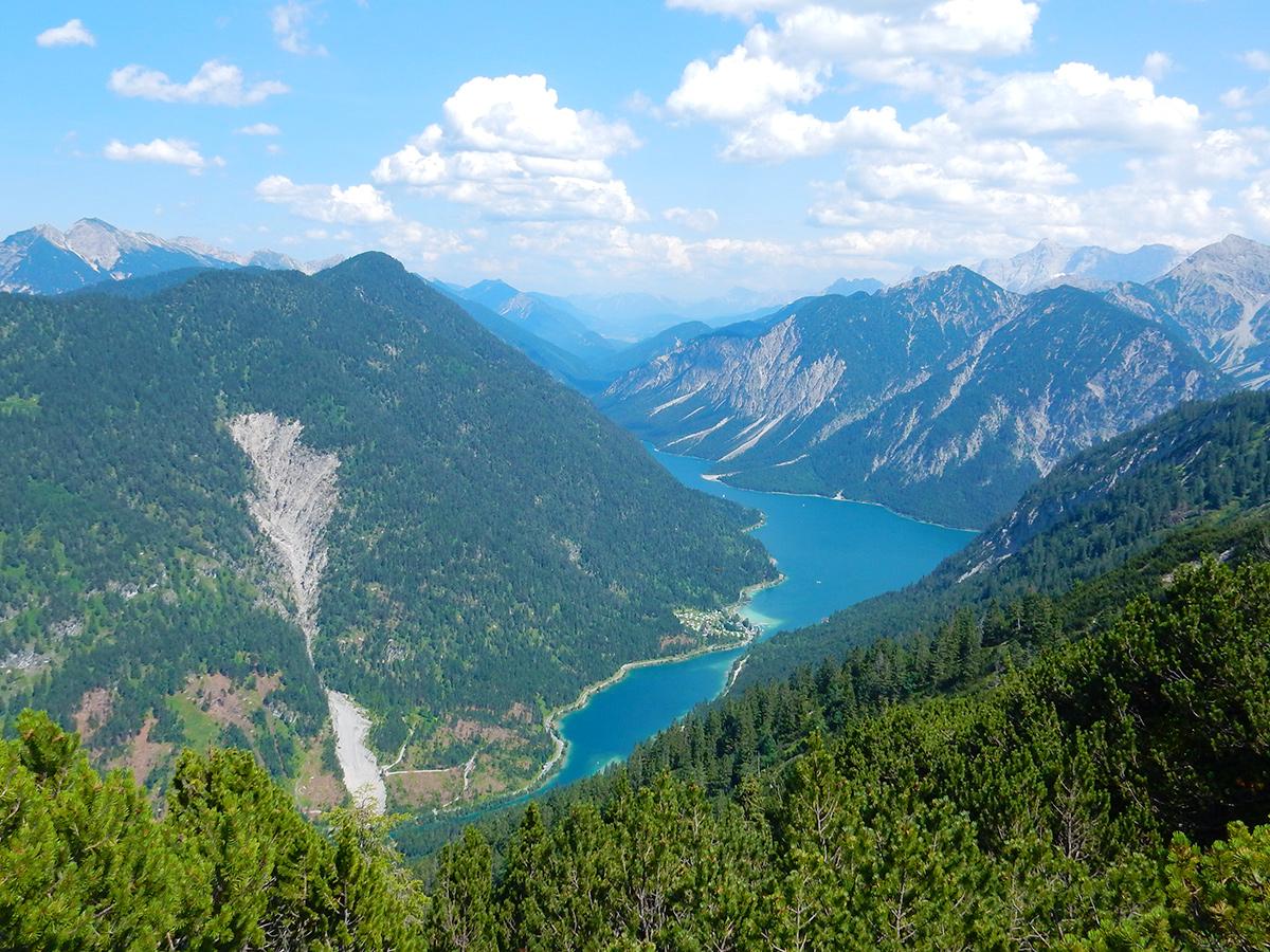 Wandern vom Plansee auf den Zunterkopf, Ausblick