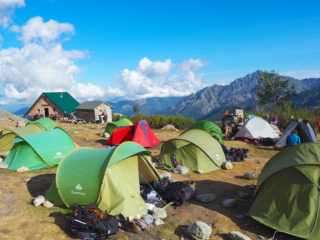 Fernwanderweg GR20 auf Korsika - Refuge de Petra Piana, Biwakplatz