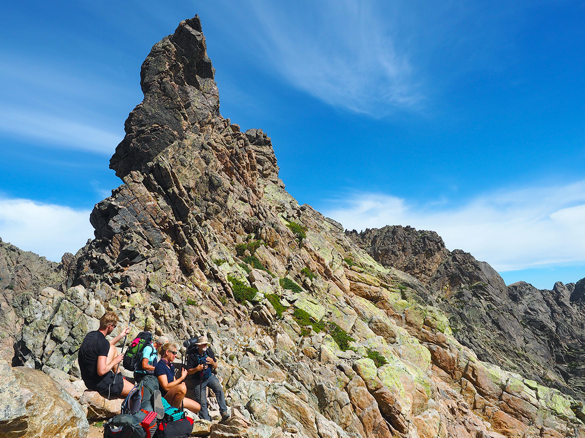 Wandern auf dem GR20 auf Korsika - Breche de Capitello