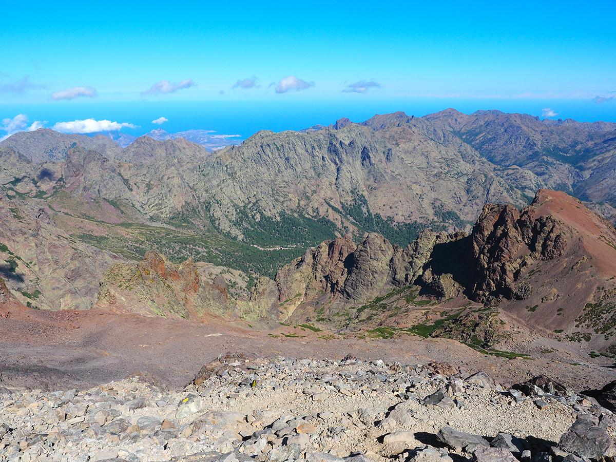 Wandern auf dem GR20 auf Korsika auf den Monte Cinto