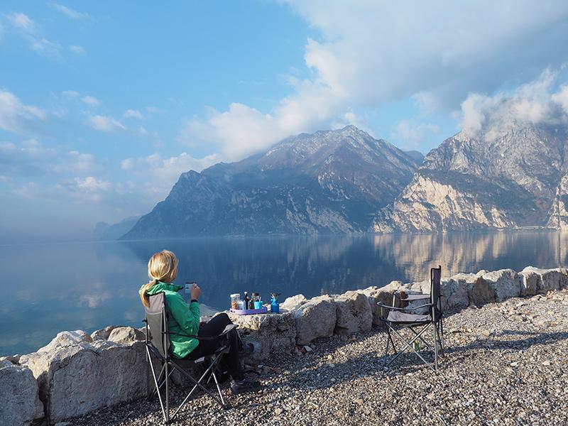Gardasee - Torbole, Campingplatz
