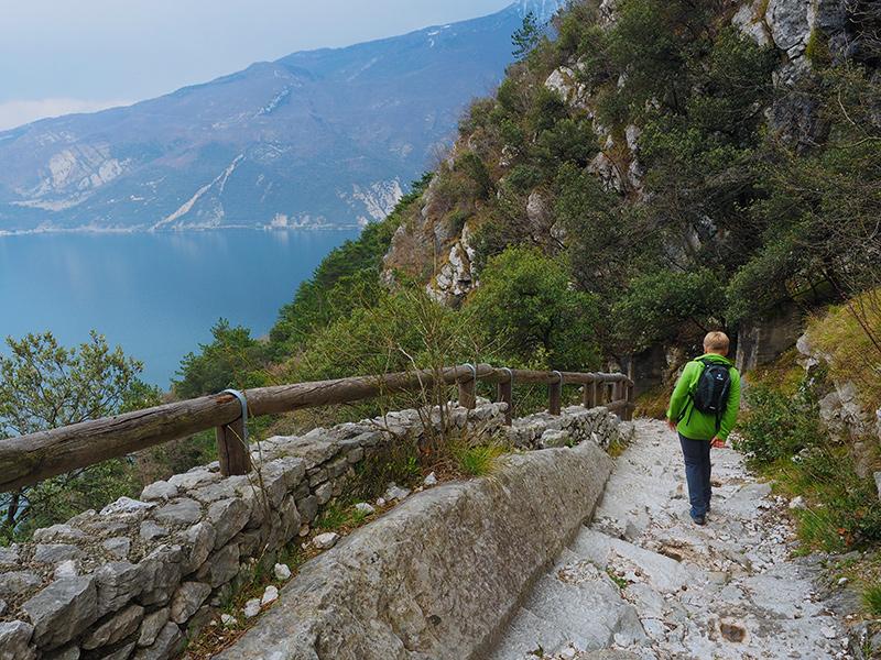 Gardasee - Wandern auf der alten Ponale Straße