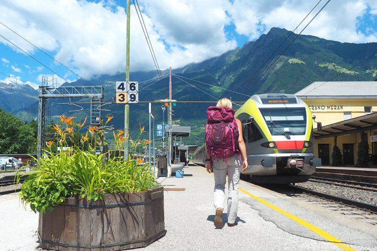 Zugreise Meran - nachhaltig Reisen