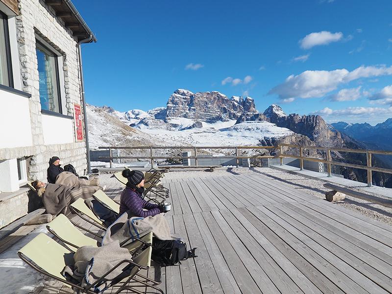 Auronzohütte im Winter