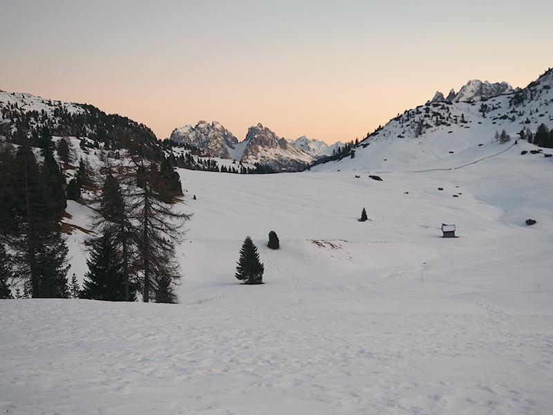 Plätzwiese im Winter - Sonnenuntergang