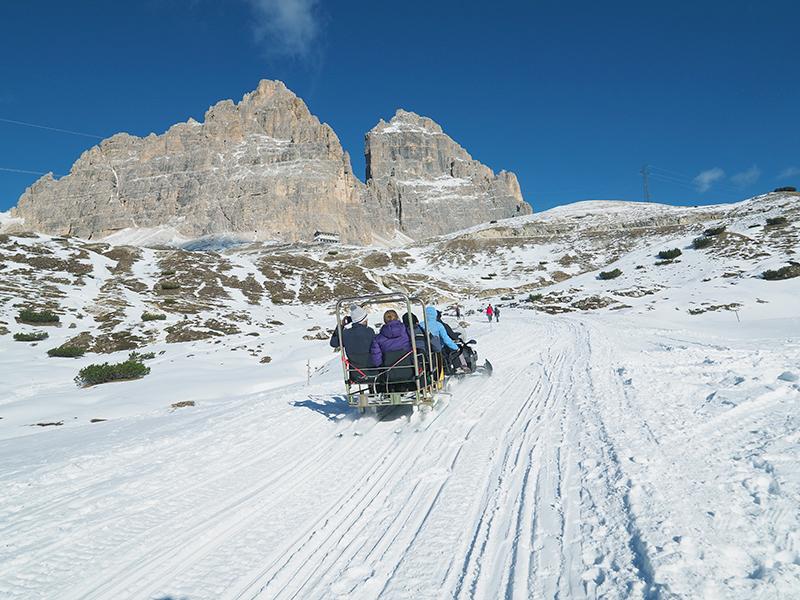 Winterwandern Antornosee - Auronzohütte
