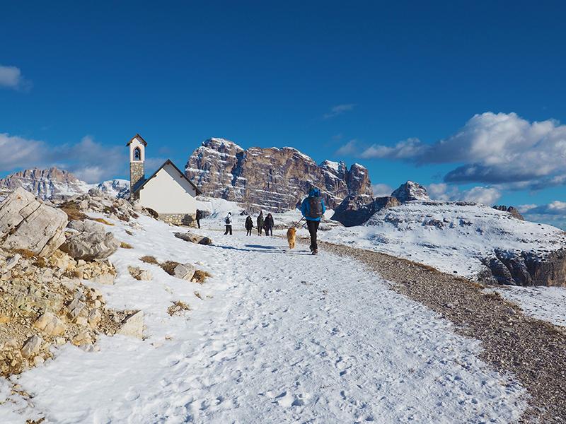 Winterwandern Auronzohütte - Lavaredohütte, Drei Zinnen