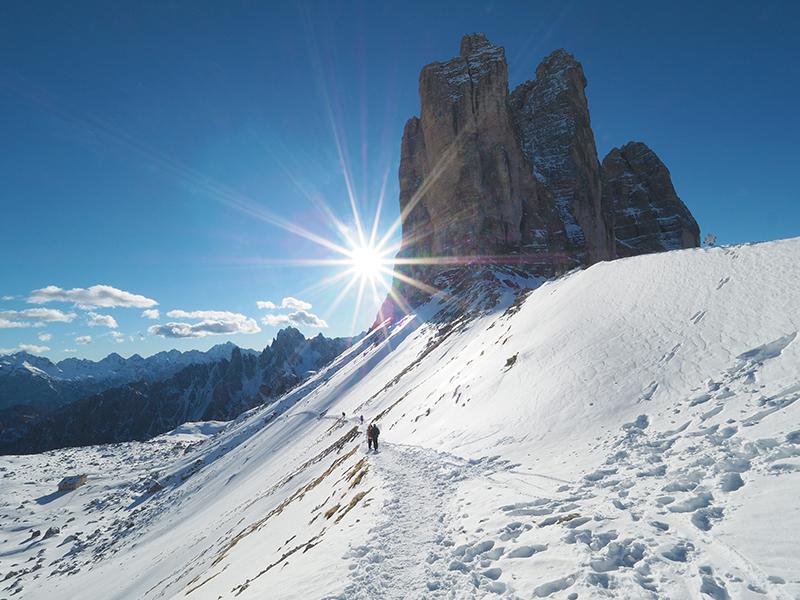 Winterwandern Auronzohütte - Paternsattel