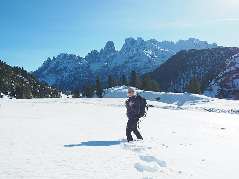 Winterwandern in den Dolomiten auf den Strudelkopf