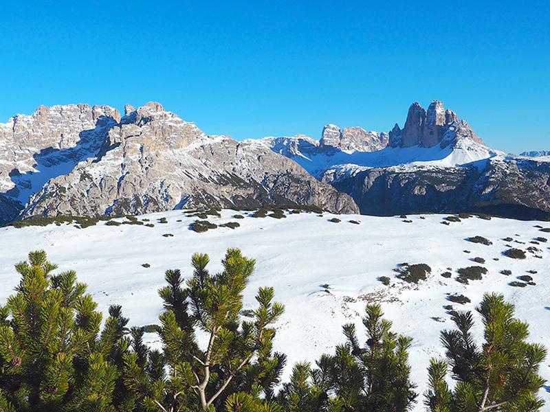 Winterwanderung in den Dolomiten auf den StrudelkopfWinterwanderung in den Dolomiten auf den Strudelkopf