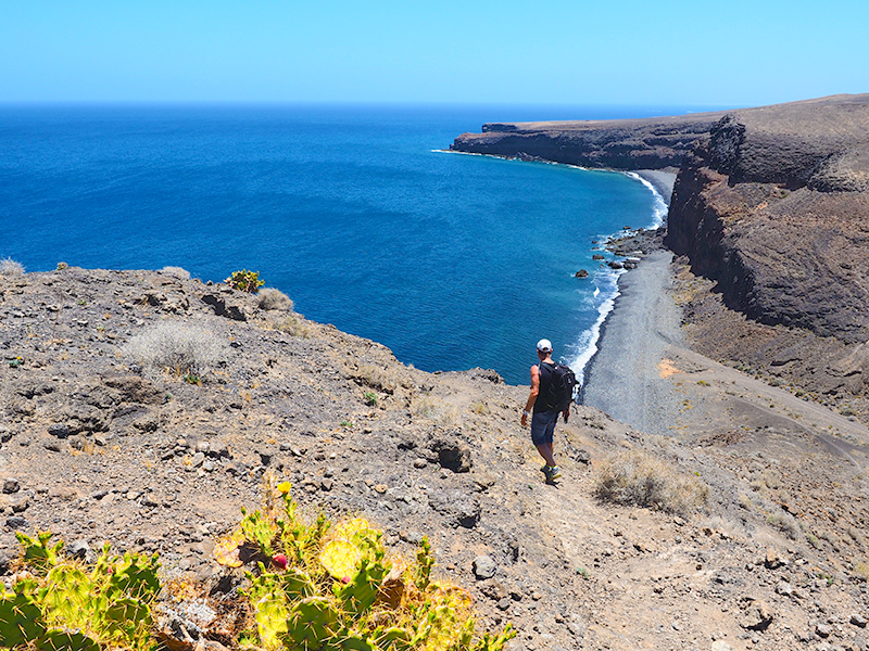 Lanzarote Wandern, Playa Quemada - Punta Gorda