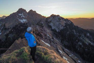 Brunnenkopf - Ammergauer Alpen, Sonnenuntergang