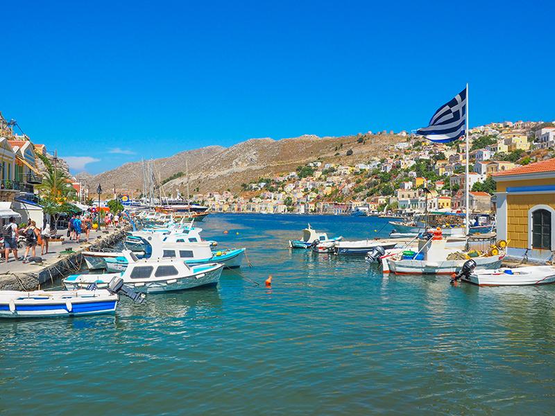 Symi Hauptstadt - Hafen