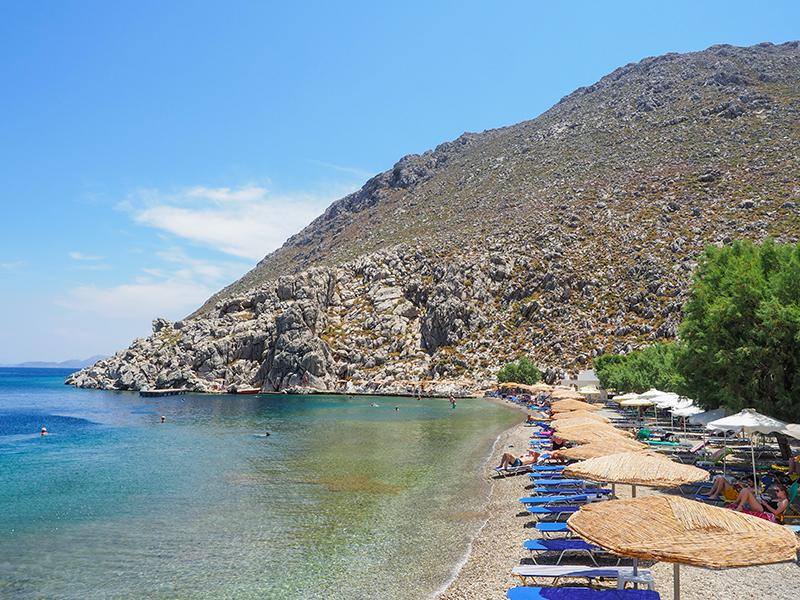 Saint Nicholas Beach in Pedi - Symi