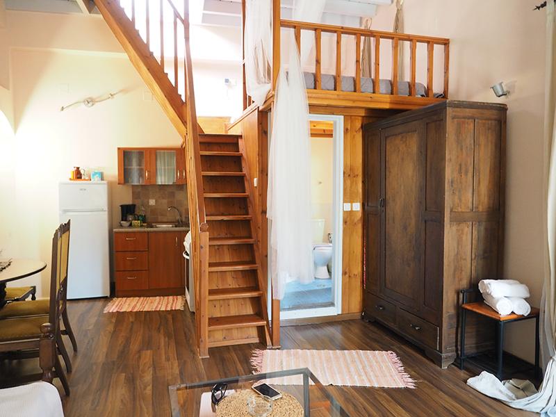 Symi - Sokratis Apartment - Wohnzimmer, Küche